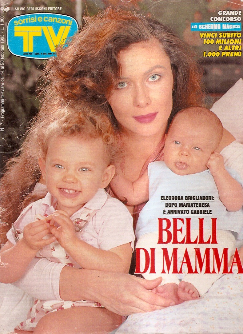 Sorrisi e Canzoni TV - Copertina dedicata a Elonora Bigliadori - 1993 -
