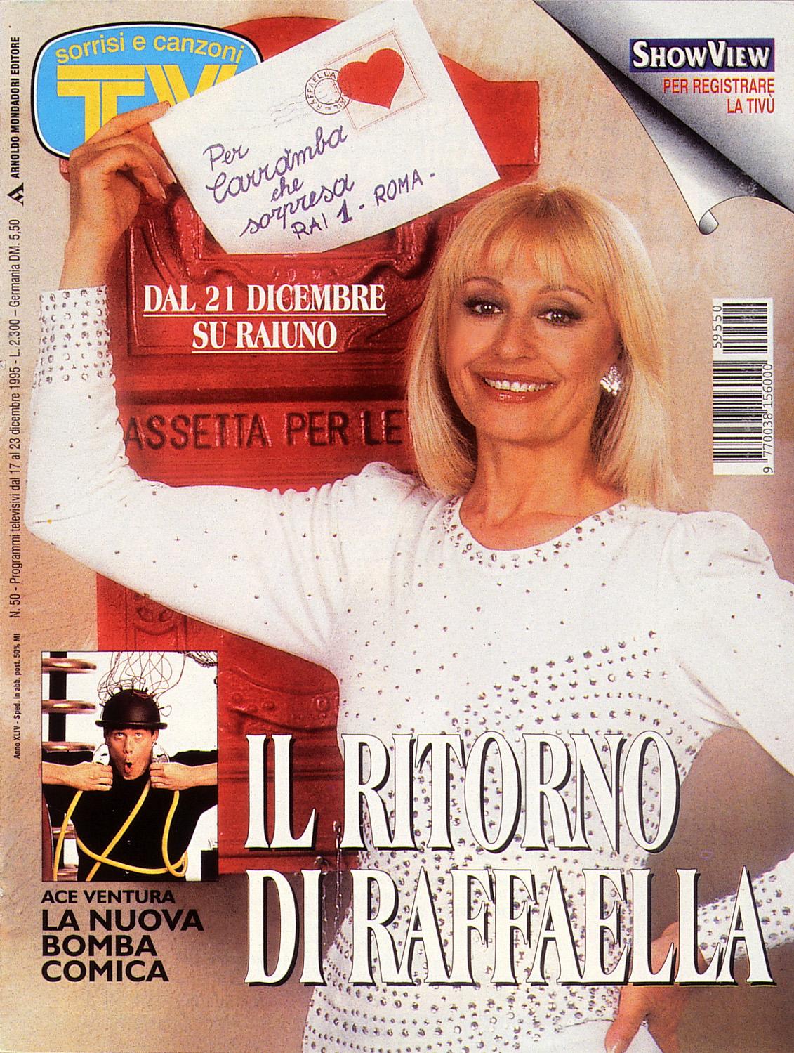 Sorrisi e Canzoni TV - Copertina con Raffaella Carrà - 1995 -
