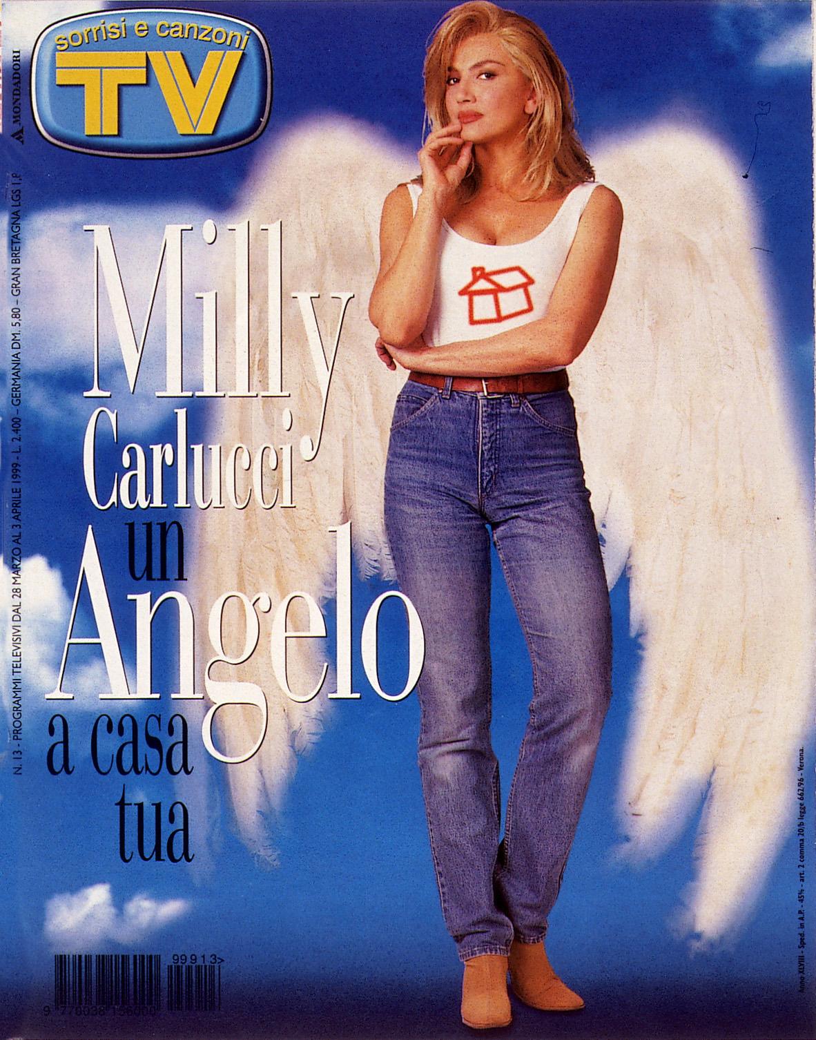 Sorrisi e Canzoni TV - Copertina con Milly Carlucci del 1999 -
