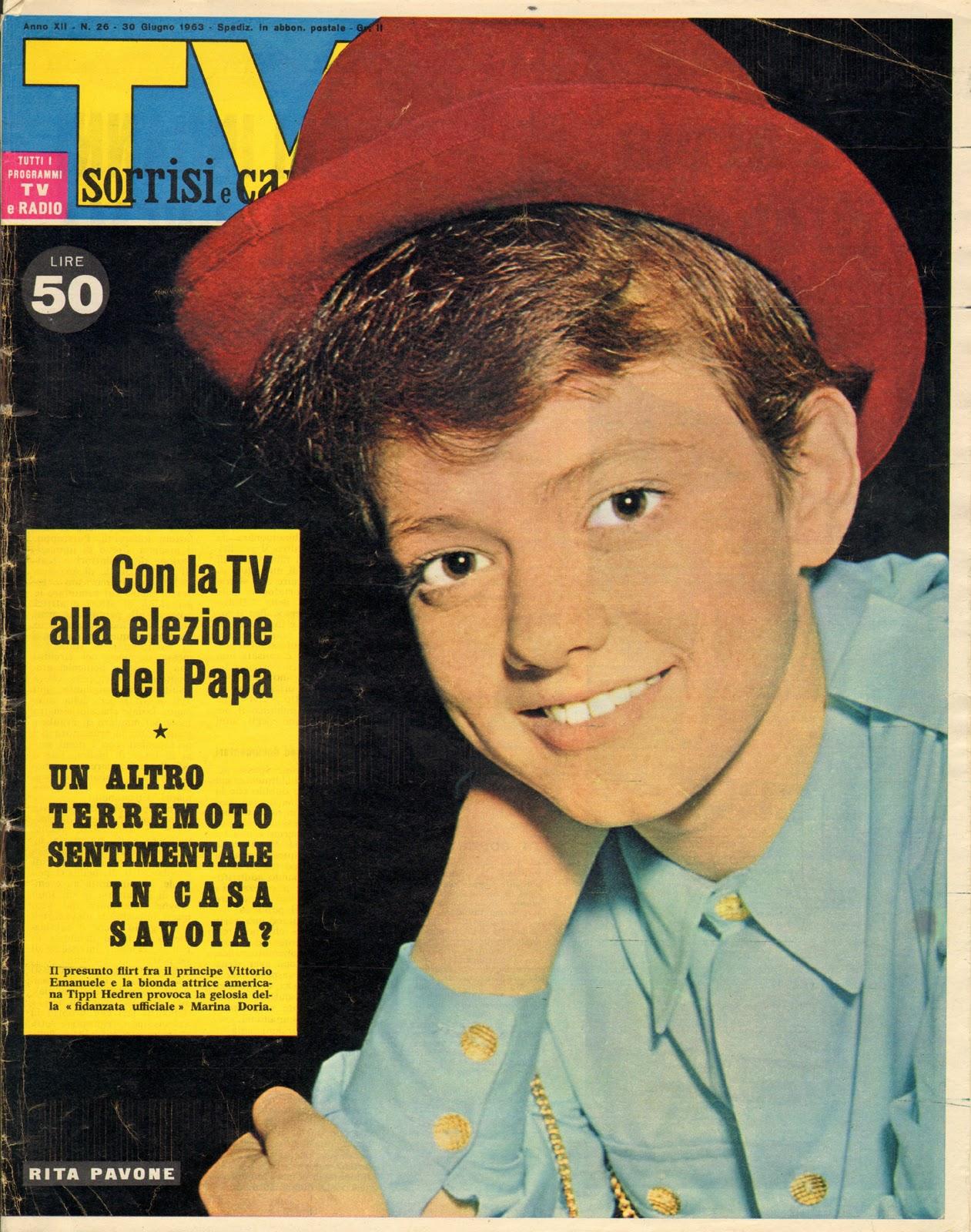 Sorrisi e Canzoni Tv - Copertina con Rita Pavone del 1963