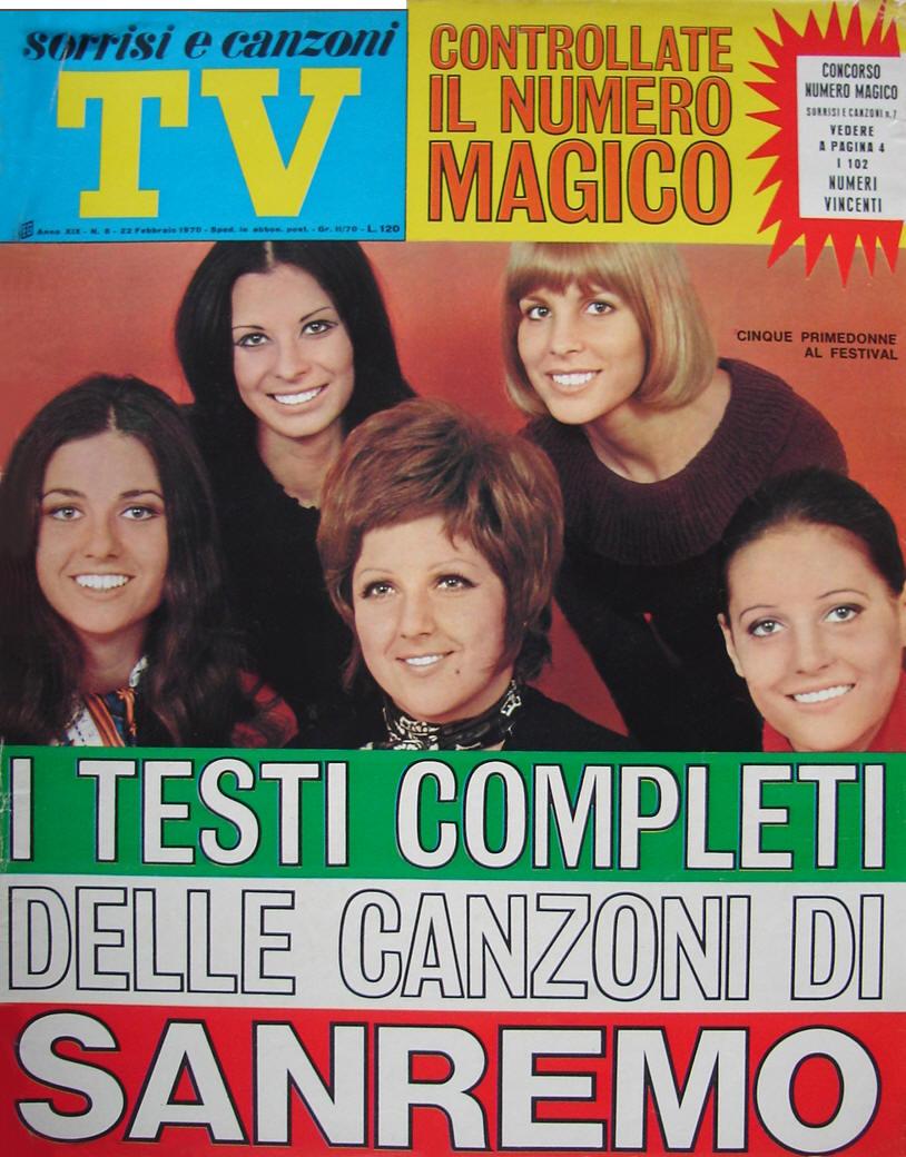 Sorrisi e Canzoni Tv - Copertina dedicata al Festival di Sanremo 1970