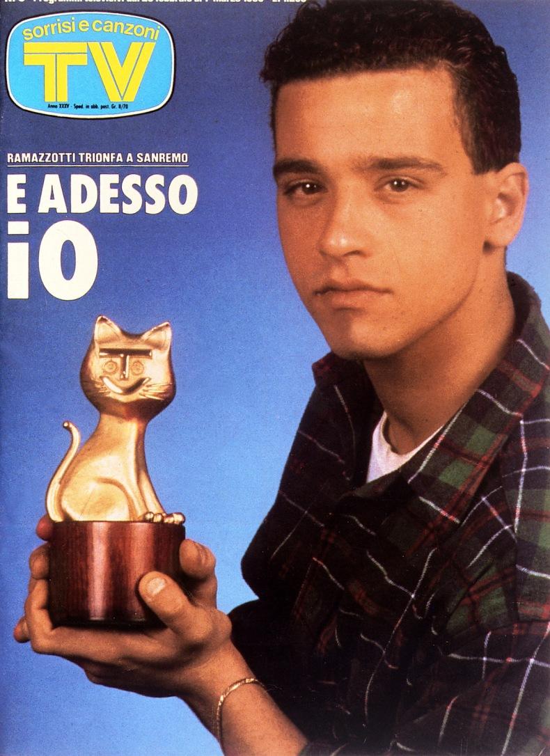 Sorrisi e Canzoni TV - Copertina dedicata a Eros Ramazzotti - 1986 -