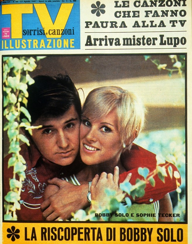 Sorrisi e Canzoni Tv - Copertina con Bobby Solo del 1967