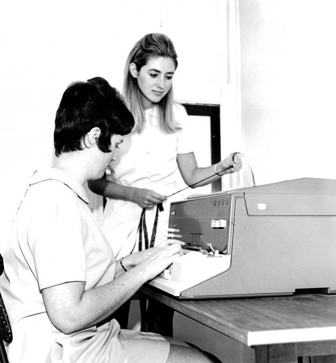 Operatrici al Telex - Anni '70 -