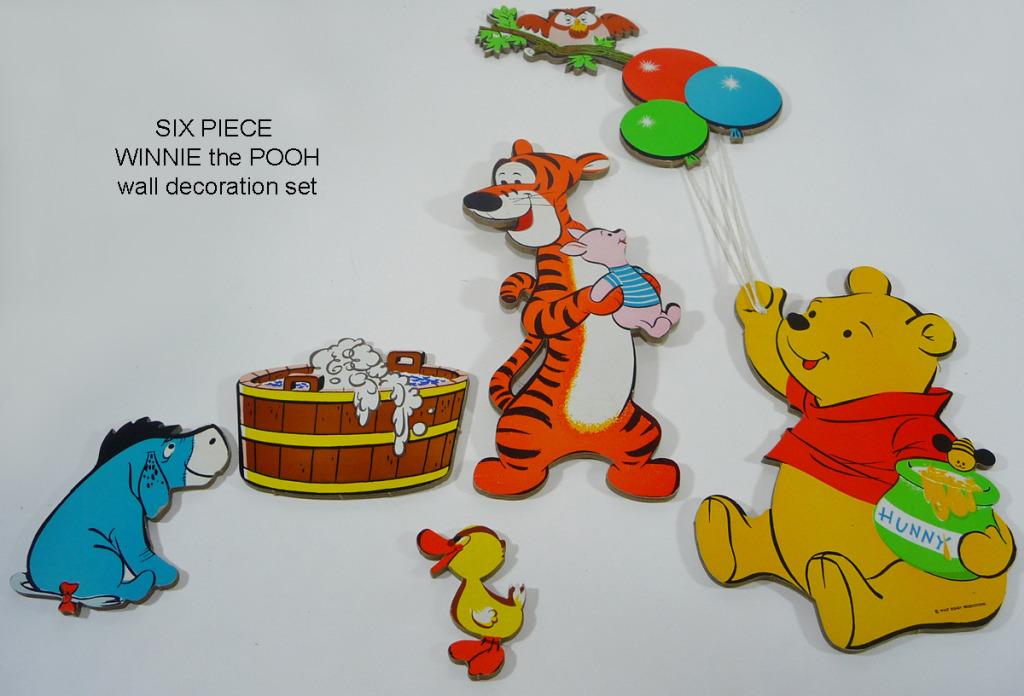 Decorazioni da muro Winnie the Pooh anni '70