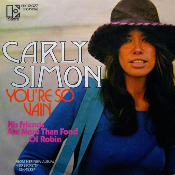 You're So Vain - Carly Simon - Copertina 45 giri -