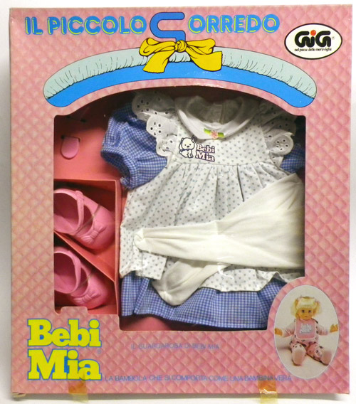 Bebi Mia corredo gig bambola-doll-
