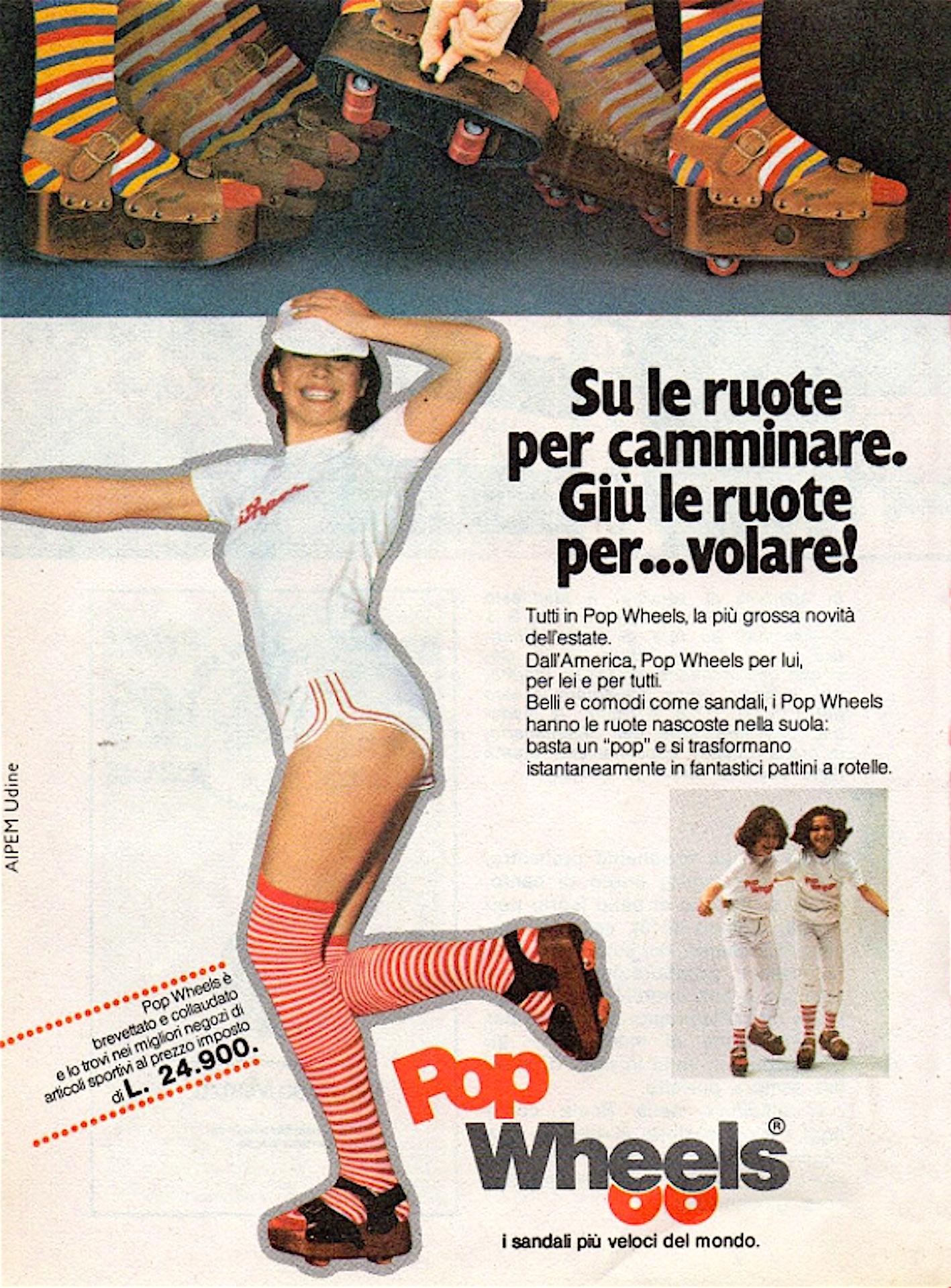 the latest 4bd28 2faa0 POP WHEELS Le scarpe con ruote anni 70 giocattoli vintage