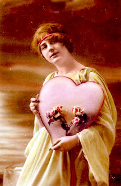 Biglietto auguri San Valentino 1910