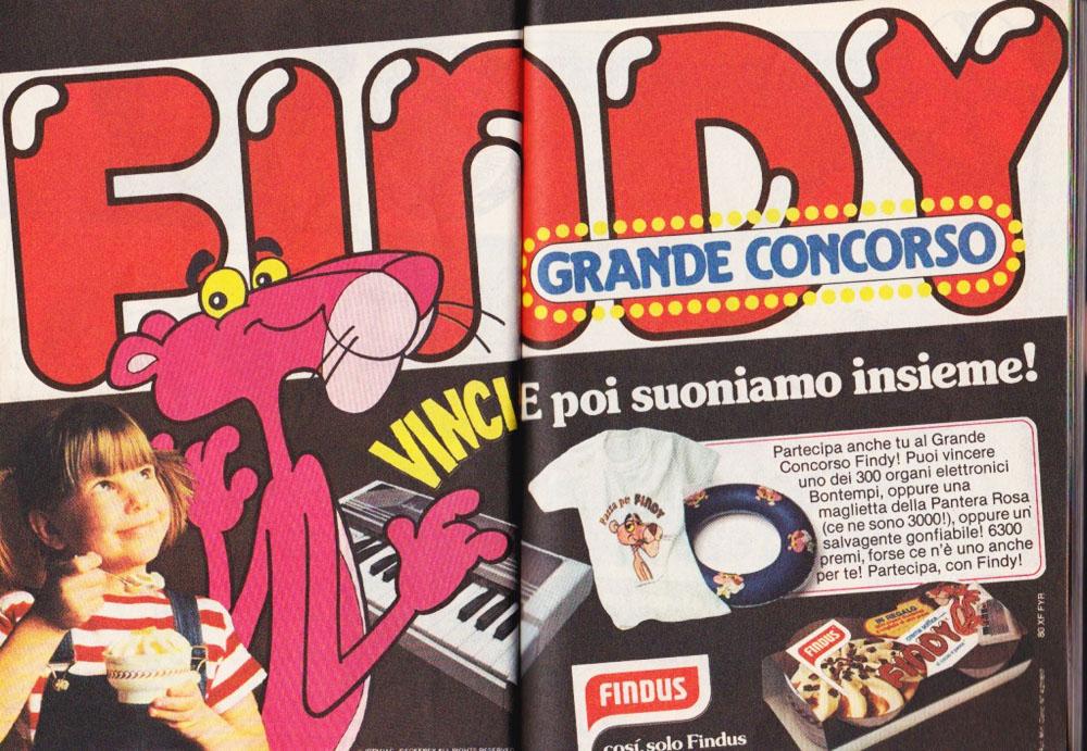 findus gelati pubblicità topolino 1280 anno 1980