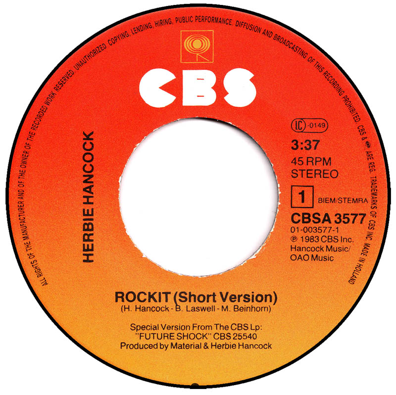 herbie hancock rockit album version cbs