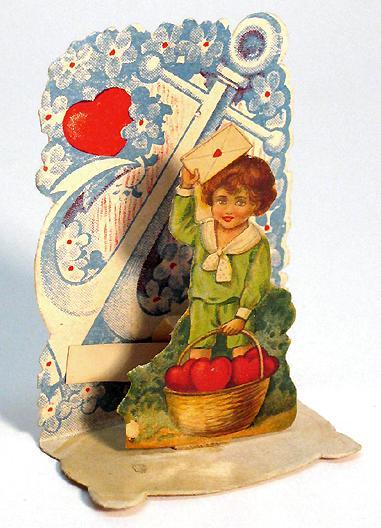 Cartolina tridimensionale San Valentino anno 1920