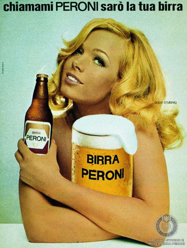 Solvy Stubing testimonial della Birra Peroni
