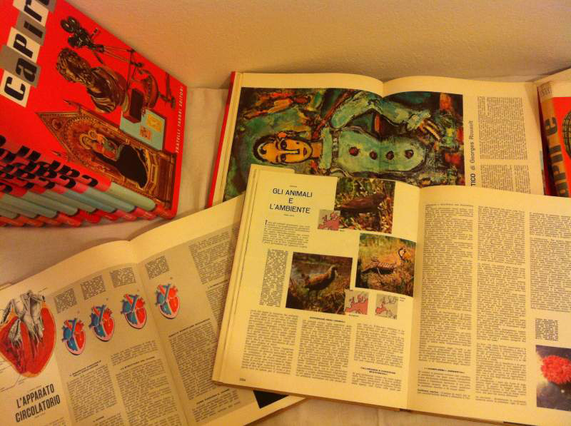enciclopedia capire fabbri editore interni anni 60