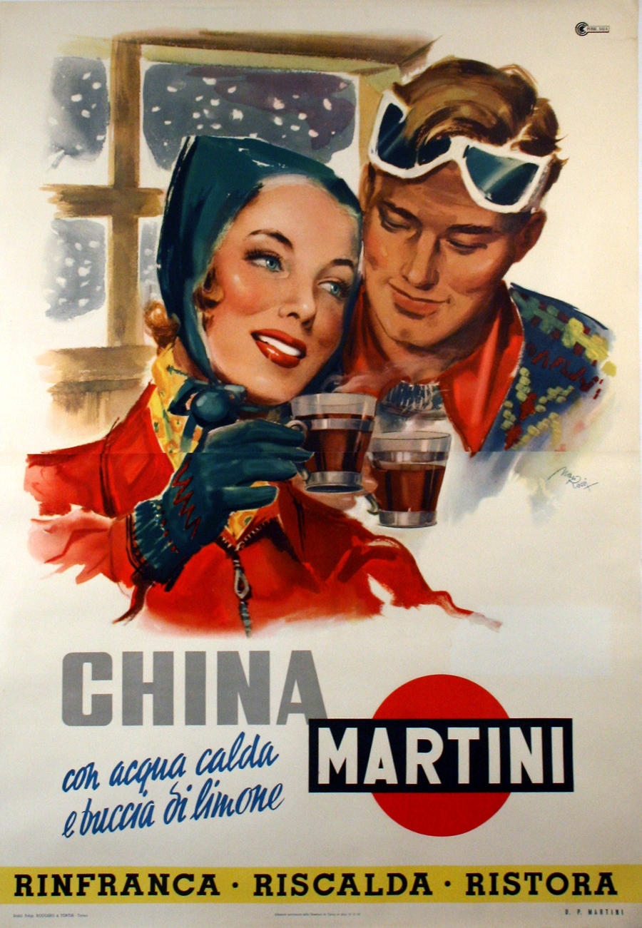 China martini ferro china bisleri carosello anni 60 for Manifesti pubblicitari anni 50