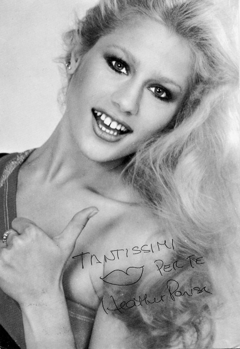 La foto autografata che Heather Parisi mi diede durante la sua visita ai suoi parenti a Lucca nel 1978