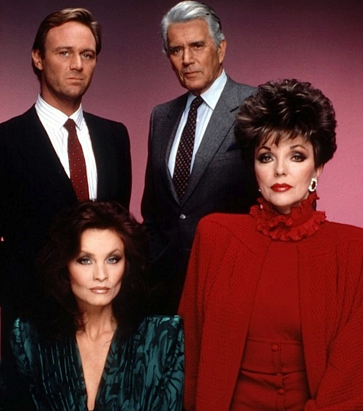 No Merchandising. Editorial Use Only. No Book Cover Usage Mandatory Credit: Photo by c.Spelling/Everett/REX (549174c) DYNASTY, Christopher Cazenove, John Forsythe, Kate O'Mara, Joan Collins 'DYNASTY' TV SERIES - 1981 - 1989
