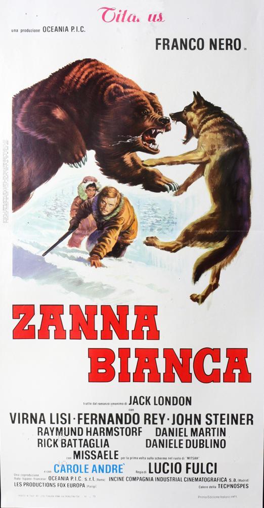 """La locandina originale del film """"Zanna Bianca"""" del 1973"""