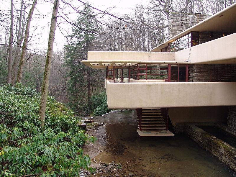 Frank Lloyd Wrigh Fallingwater exterior ESTERNI
