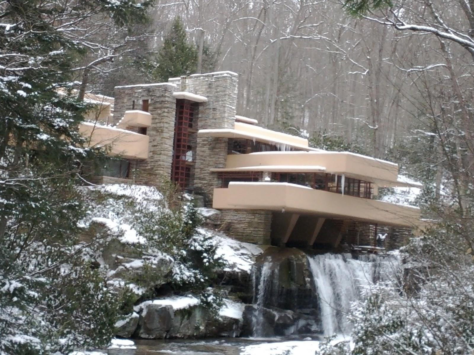 Fallingwater la casa sulla cascata curiosando anni 60 for Frank lloyd wright piani casa della prateria