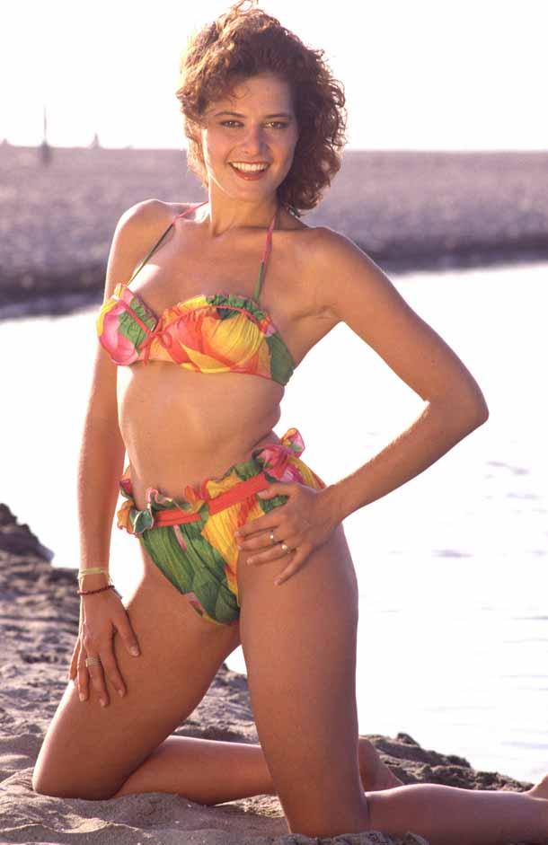 Una giovanissima Simona Ventura nei primi anni '90