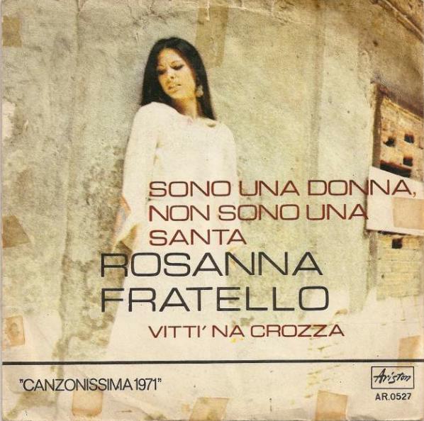 Rosanna Fratello sono una donna non sono una santa copertina 1971