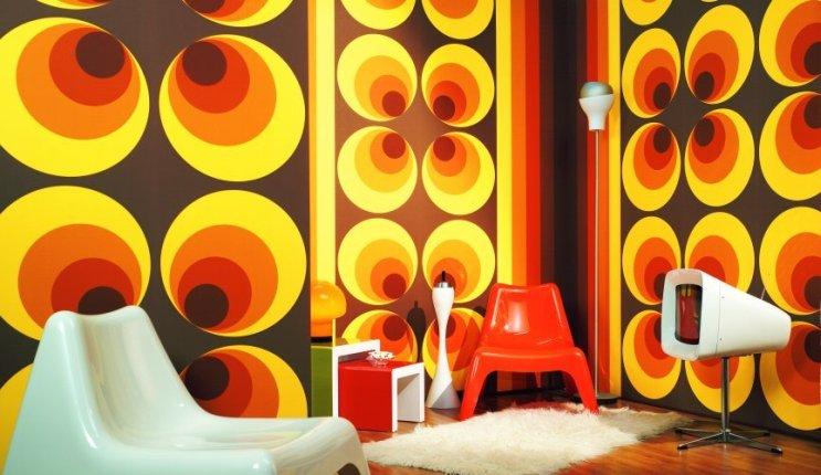 il meglio degli anni 70 e 80 stanza tipica anni 70 con accessori vintage