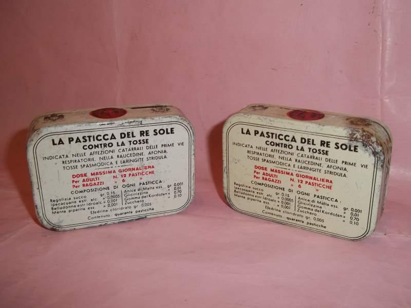 la pasticca del re sole confezioni in latta vintage