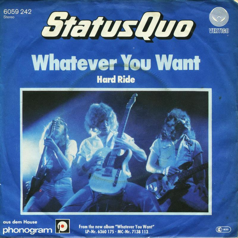 status quo whatever you want 1979 copertina