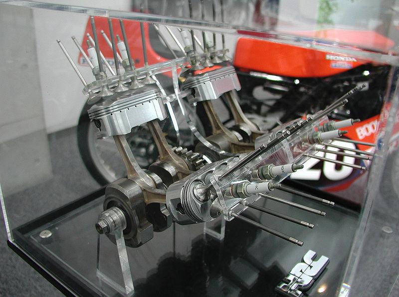 Spaccato del motore a pistoni ovali