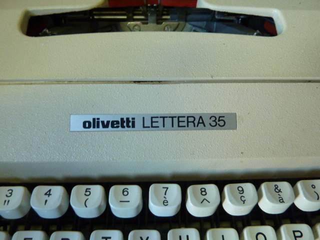 olivetti lettera 35 macchina da scrivere anni 70 confezione originale