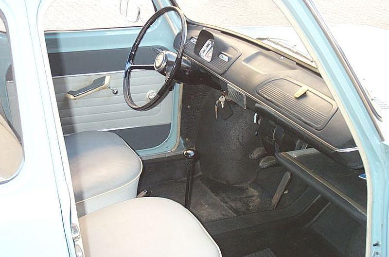 Simca_1000 interni e strumentazione 1963