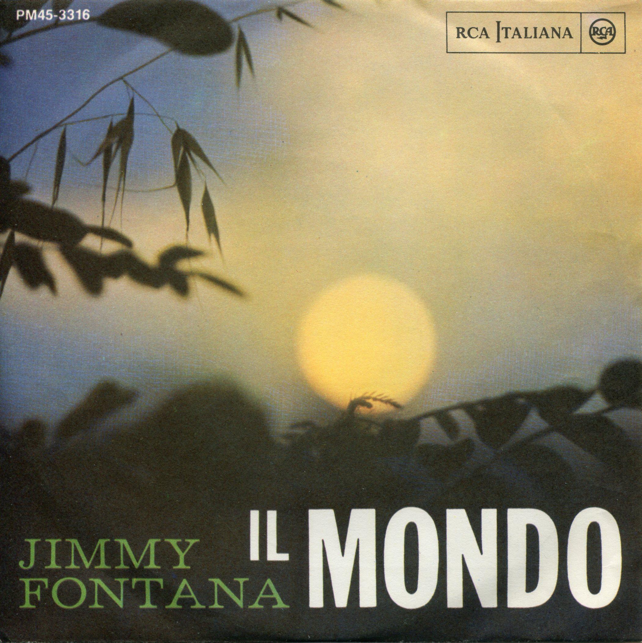 JIMMY FONTANA IL MONDO COPERTINA