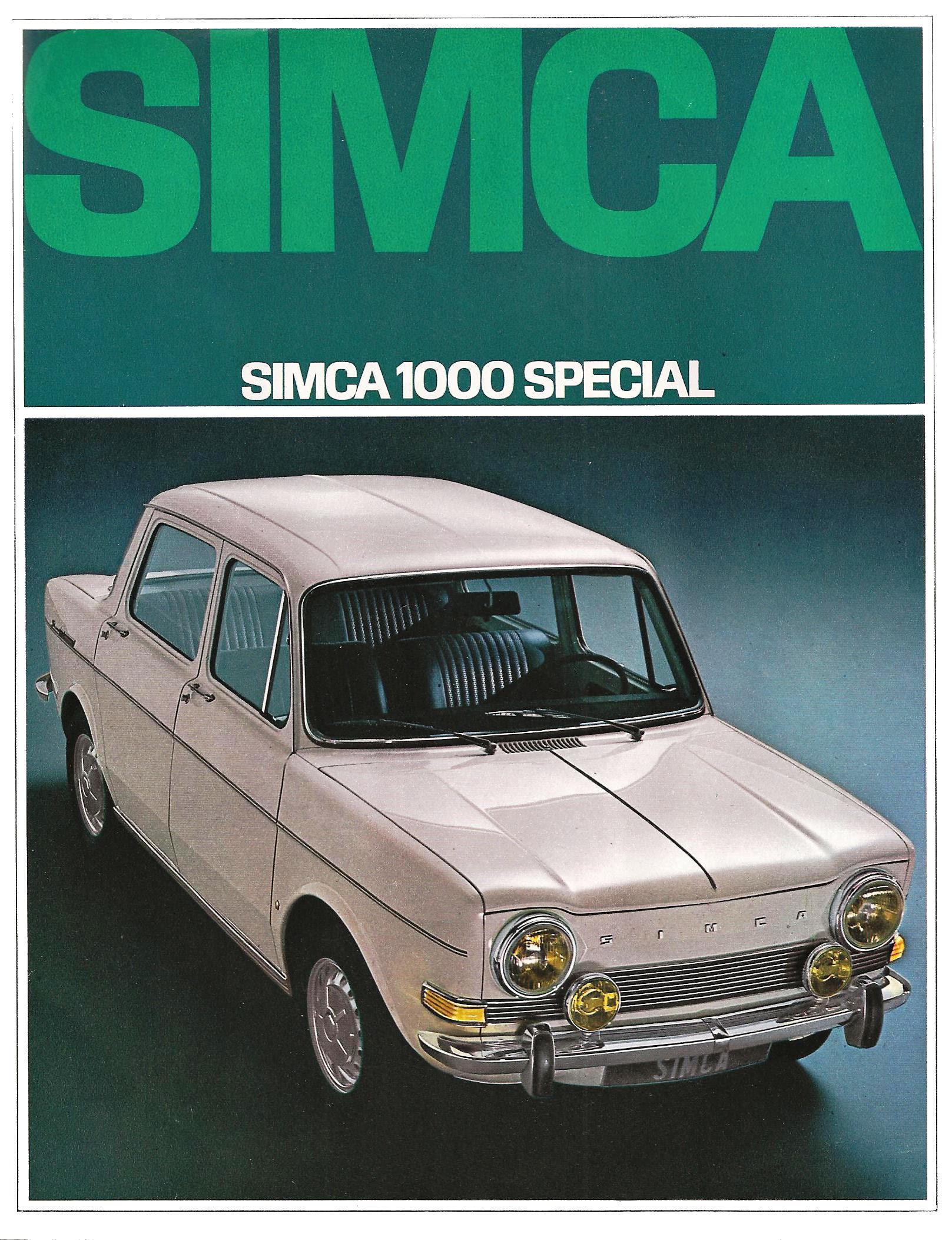 Simca 1000 Special 1 1968 catalogo