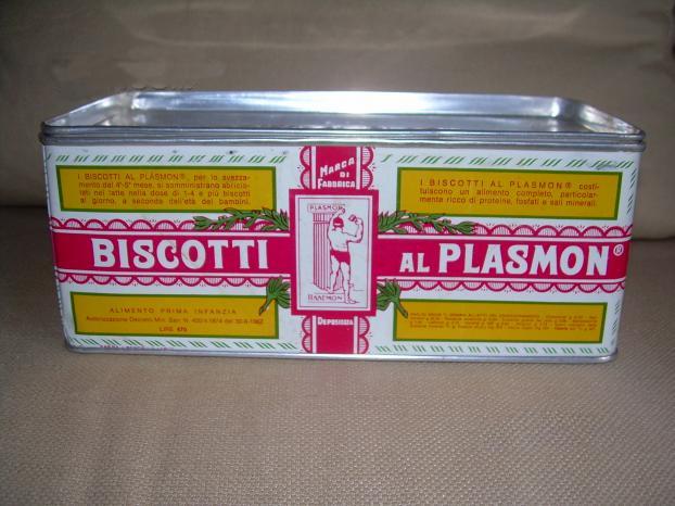 plasmon scatola latta anni 60