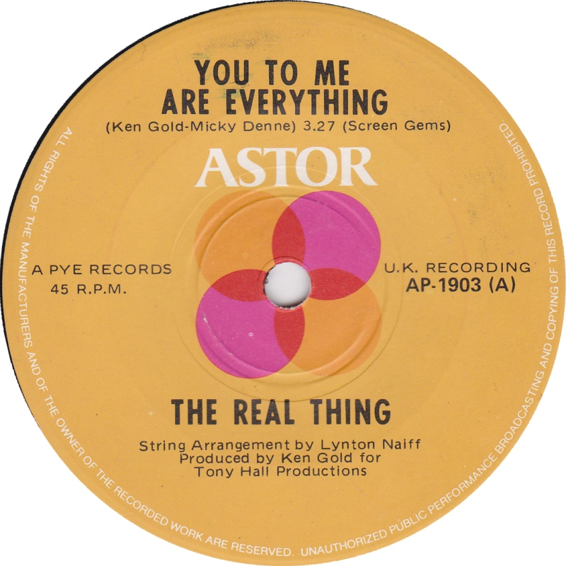 real thing you to me are everything astor 45 giri