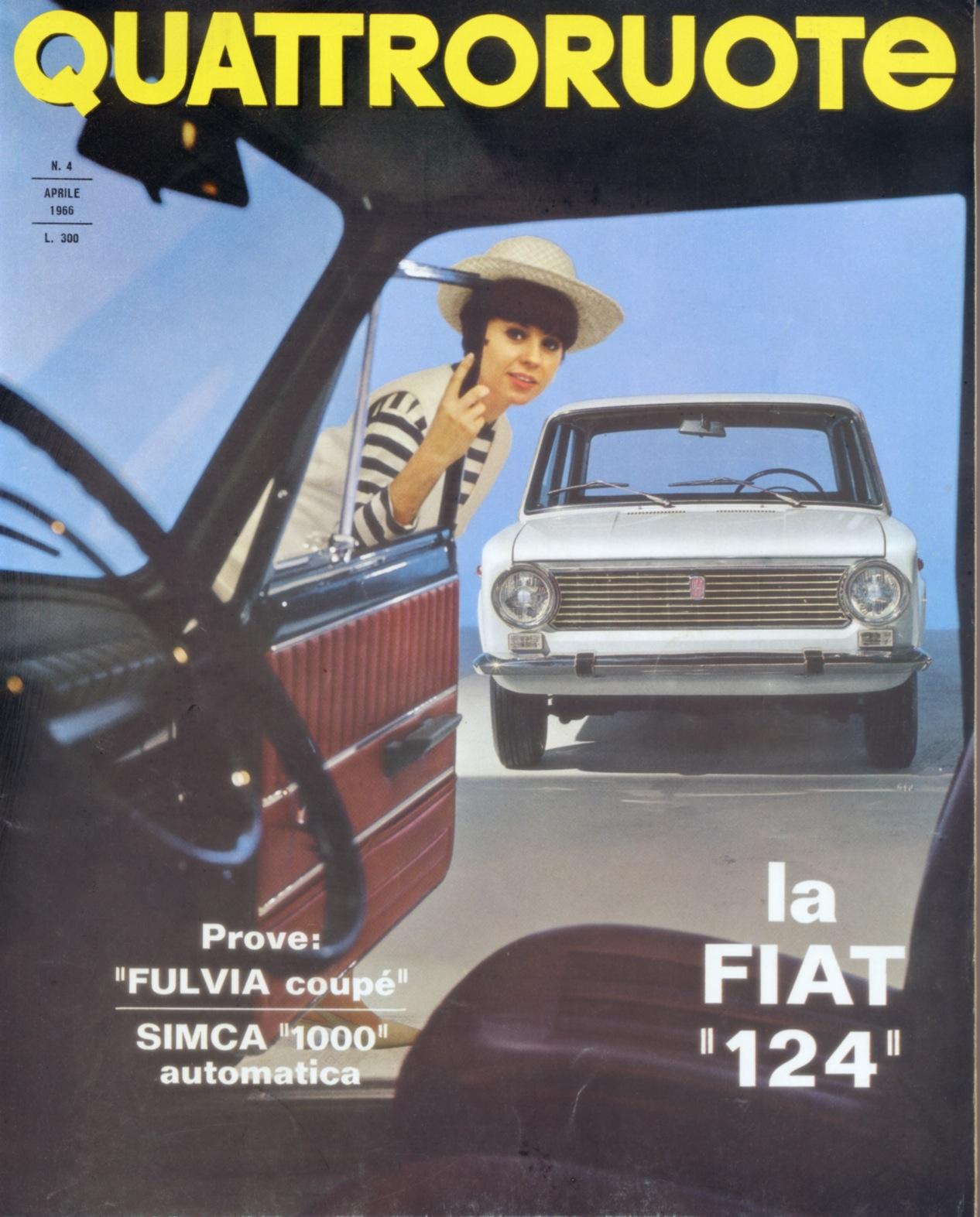 1966 quattroruote copertina aprile 124