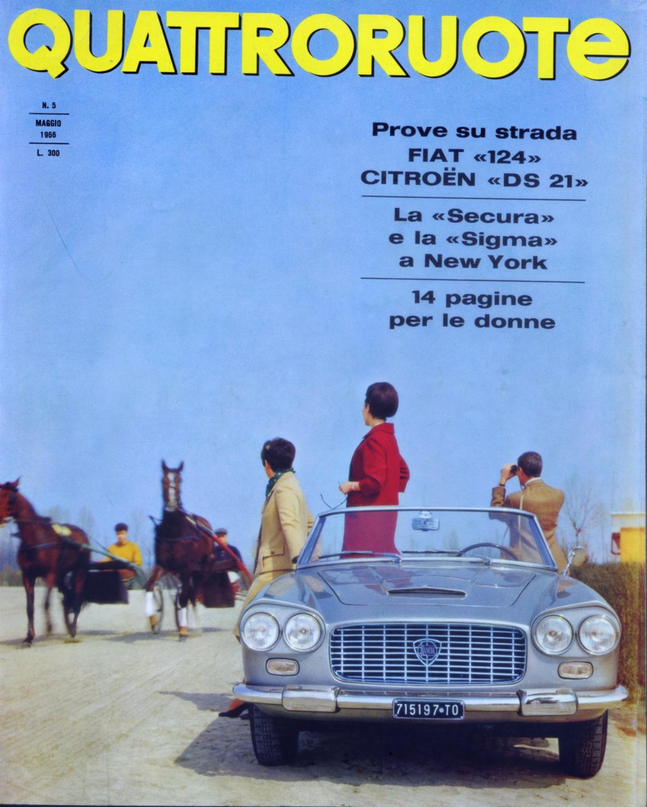 1966 quattroruote copertina maggio 125