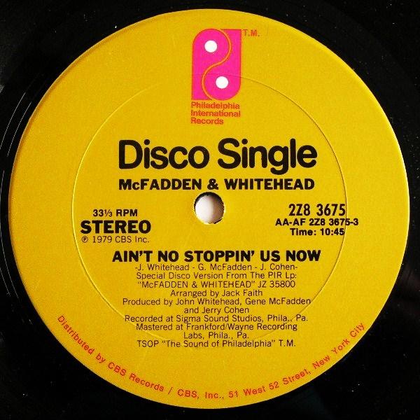 McFadden & Whitehead - Ain't No Stoppin' Us Now copertina