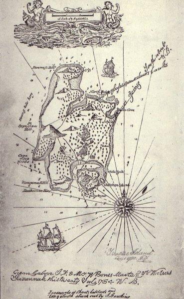 la mappa de l'isola del tesoro illustrazione originale