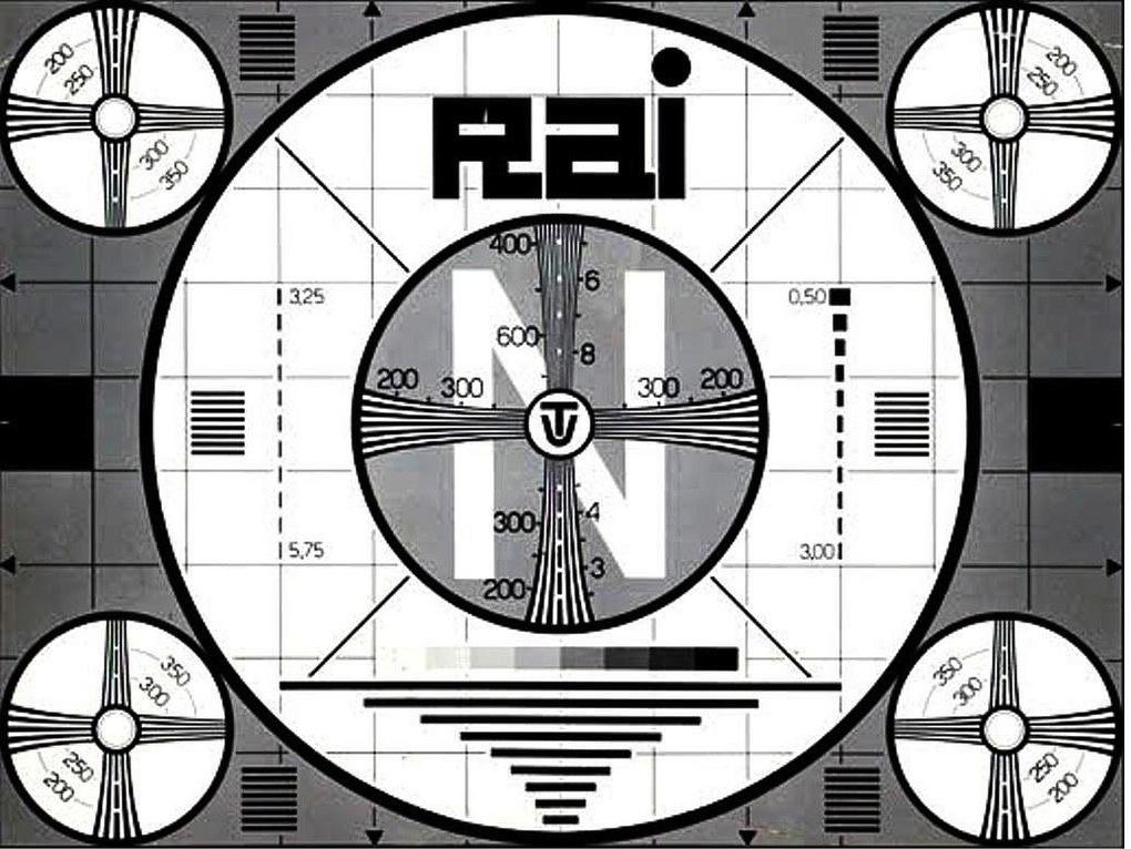 monoscopio rai anni 60