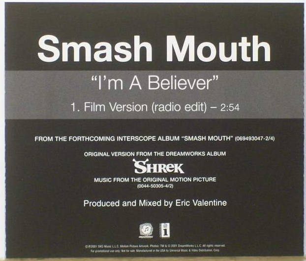 smash mouth i'm a believer