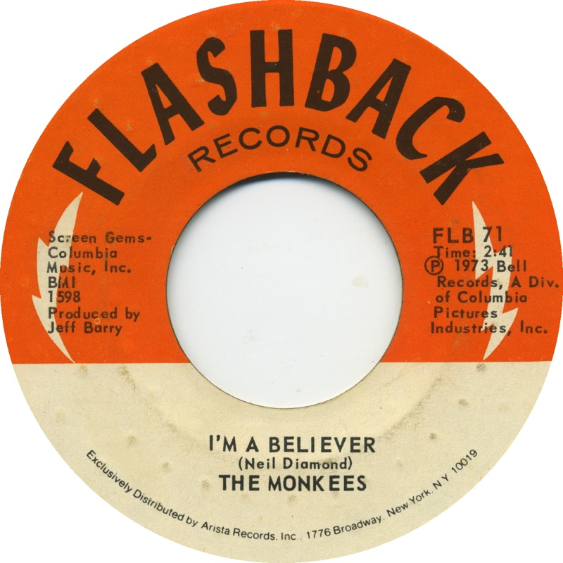 the monkees im a believer flashback-disco-vinile