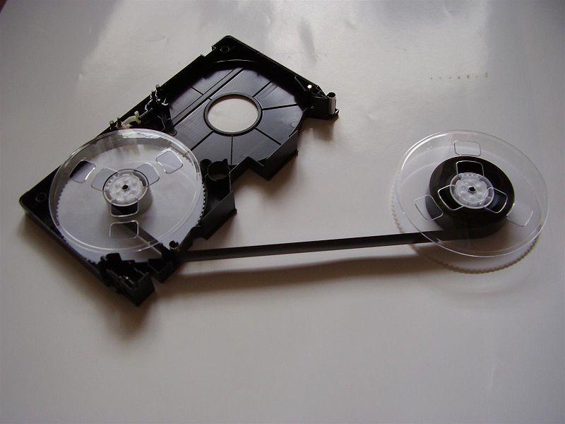 videocassetta VHS interno