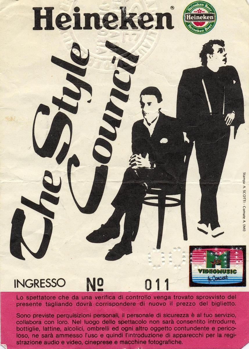 biglietto the style council 1983