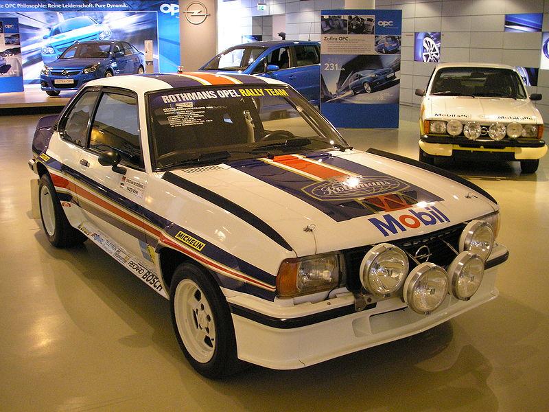 L'Opel Ascona 400 con la quale il tedesco Walter Röhrl vinse il Campionato del mondo rally 1982