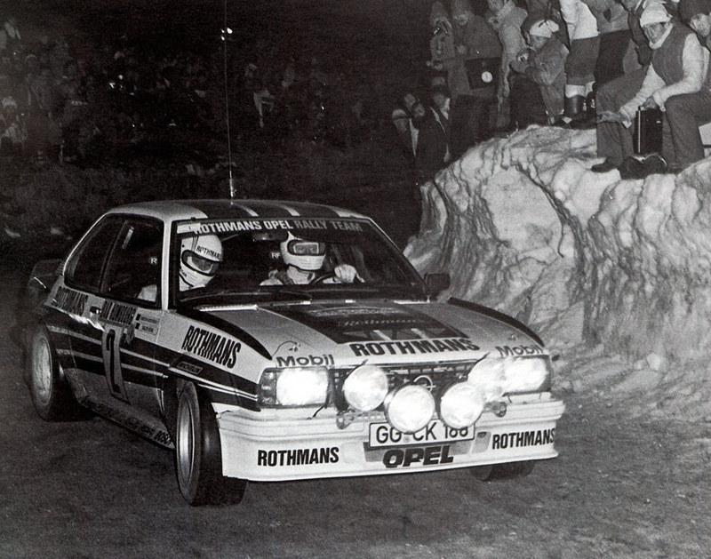 Walter Rohrl su Opel Ascona 400