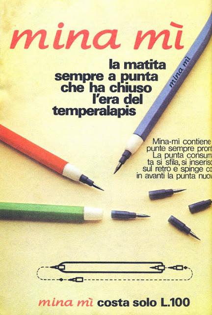 minamì matita pubblicità topolino 1975
