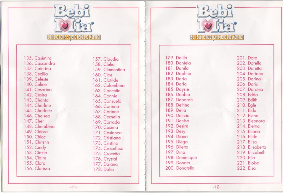 Bebi-Mia-istruzioni-codici-pagina-11-12