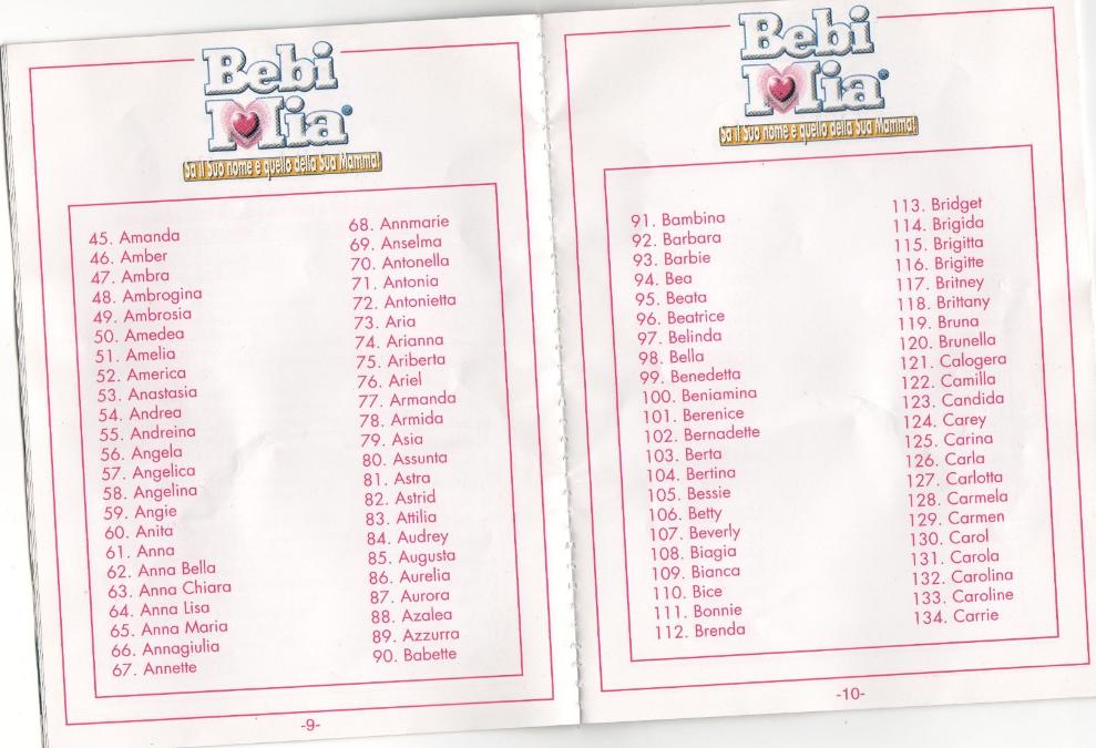 Bebi-Mia-istruzioni-codici-pagina-9-10